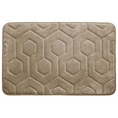 Bounce Comfort Hexagon Memory Foam Bath Mat Collection
