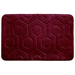 Bounce Comfort Hexagon Memory Foam Bath Mat Collection