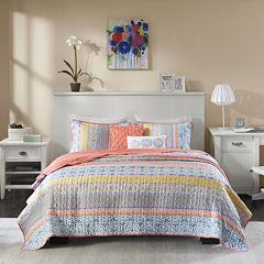 Intelligent Design Adley Stripes Coverlet Set