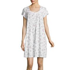 Adonna Jersey Short Sleeve Nightgown-Petites