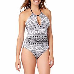 Liz Claiborne Santorini Stripe One Piece Swimsuit or Coverup