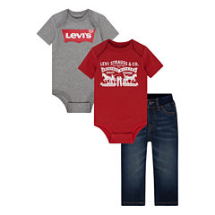 Levi's 3-pc. Bodysuit Set-Baby Girls