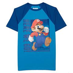 Nickelodeon Short Sleeve Crew Neck T-Shirt-Big Kid Boys