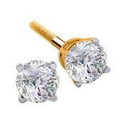 1/2 CT. T.W. Diamond 14K Yellow Round Stud Earrings