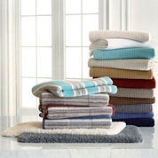JCPenney Home™ Farmhouse Stripe and Quick-Dri™ Bath Towel & Rug Collection