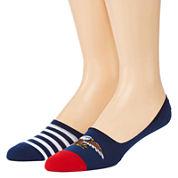 Reckless® Mens 2-pk. Novelty Liner Socks