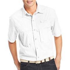 IZOD Surfcaster Short-Sleeve Woven Button-Front Shirt