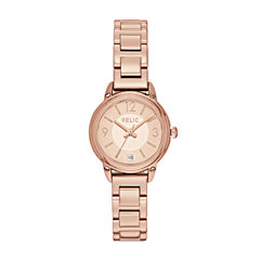 Relic Womens Rose Goldtone Bracelet Watch-Zr34388