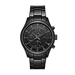Relic Mens Black Bracelet Watch-Zr15911