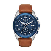 Relic Mens Brown Strap Watch-Zr15913