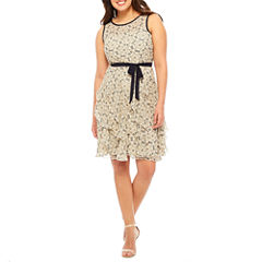 Robbie Bee Sleeveless Fit & Flare Dress