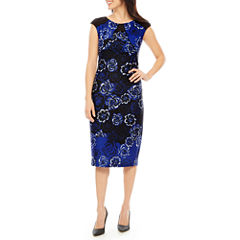 MelroseCap Sleeve Sheath Dress