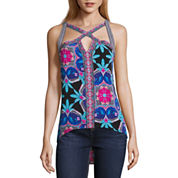 Nicole By Nicole Miller High Low Cut Out Top