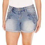 Bold Elements Embellished Midi Shorts