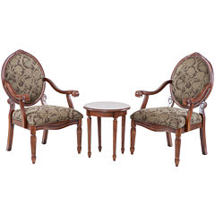 Madison Park Shiloh 3-pc. Chair and Side Table Set