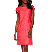 R&K Originals® Cap-Sleeve Lace Shift Dress