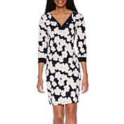 Tiana B. 3/4-Sleeve Floral-Print Dress - Tall