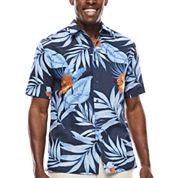 The Havanera Co.® Short-Sleeve Allover Tropical Print Shirt
