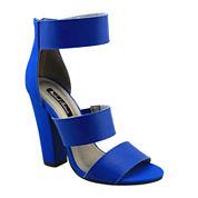 Michael Antonio Joxy Triple-Banded Chunky High-Heel Sandals