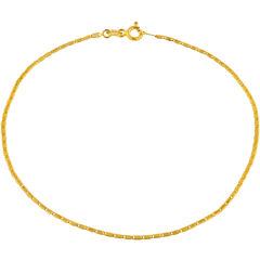 Made in Italy 10K Gold Valentino Chain Ankle Bracelet