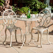 Anacapa 3-pc. Outdoor Cast Aluminum Bistro Set