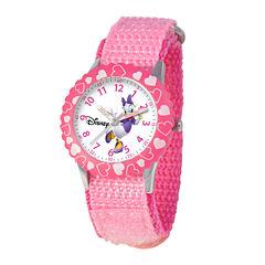 Disney Time Teacher Daffy Duck Kids Pink Fast Strap Watch
