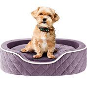 Sleep Philosophy Renny Quilted Memory Foam Orthopedic Oval Cuddler Dog Bed