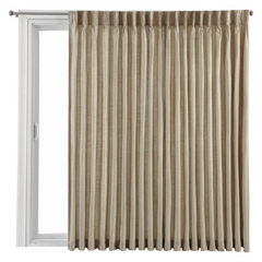 Royal Velvet® Supreme Pinch-Pleat/Back-Tab Lined Patio Door Panel