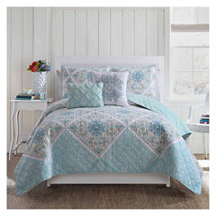 VCNY Windsor 5-pc. Damask + Scroll Quilt Set