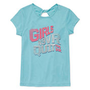 Reebok® Short-Sleeve Twist-Back Graphic Tee – Girls 7-16