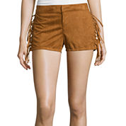 Boom Boom Jeans Lace-Up Faux-Suede Shorts