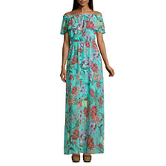 Decree Off The Shoulder Maxi Dress - Juniors