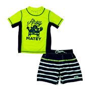 Carter's Pattern Rash Guard Set - Baby