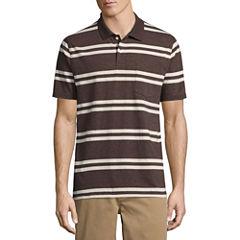 St. John's Bay® Short-Sleeve Striped Jersey Polo