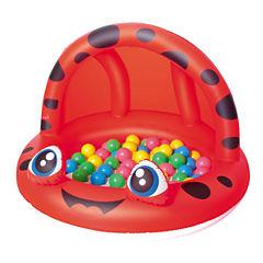 Bestway 38 Inch x 26 Inch Shaded Play Pool Ladybug