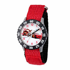 Disney Cars Boys Red Strap Watch-Wds000027
