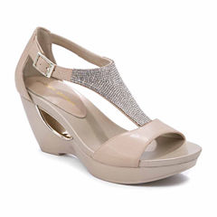 Andrew Geller Arana Womens Wedge Sandals