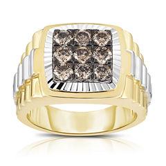 Mens 1 1/2 CT. T.W. Champagne Diamond 10K Gold Band