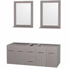 Wyndham Collection Centra 60 inch Double BathroomVanity