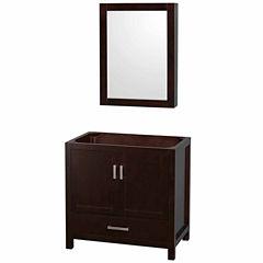 Wyndham Collection Sheffield 36 inch Single Bathroom Vanity