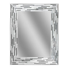 Reeded Charcoal Wall Mirror