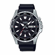 Casio Illuminator Mens Black Strap Watch-Mtd-110-1av