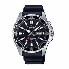 Casio Illuminator Mens Black Strap Watch-Mtd-110-1av