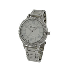 Geneva Platinum Womens Silver Tone Bracelet Watch-4979