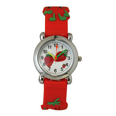 Olivia Pratt Kids Red Strawberry Strap Watch-8083
