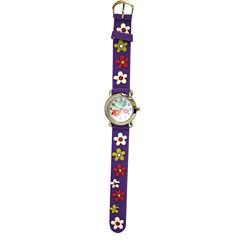 Olivia Pratt Kids Purple Flower Strap Watch-17189