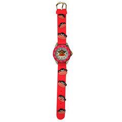 Olivia Pratt Kids Monkey Time-Teacher Pink Strap Watch-17193