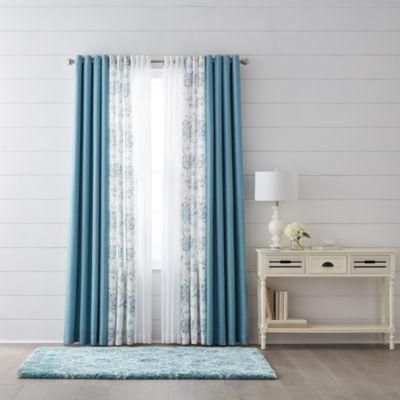jcpenney home quinn jacobean quinn u0026 batiste sheer grommettop curtain panels