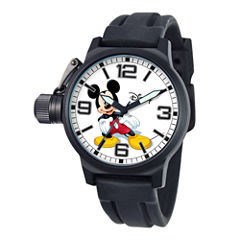 Disney Crown Protector Mens Mickey Mouse Silicone Strap Watch