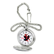 Mens Spiderman Silver-Tone Pocket Watch